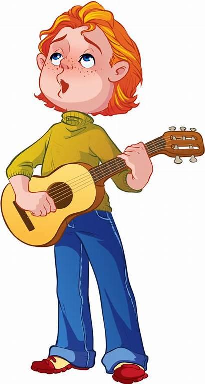 Clipart Guitar Clip Nurse Playing Instrument Boy