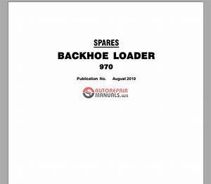 Terex Backhoe Loader 970 Spare Parts Catalogue