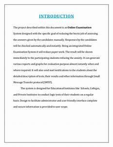 online examination documentation With online examination system project documentation
