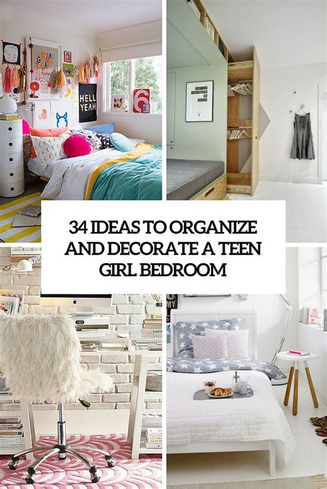 ideas  organize  decorate  teen girl bedroom digsdigs