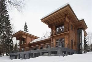 Haus Auf Russisch : symmetrisches holzhaus blockhaus modern einsatz glas ~ Articles-book.com Haus und Dekorationen