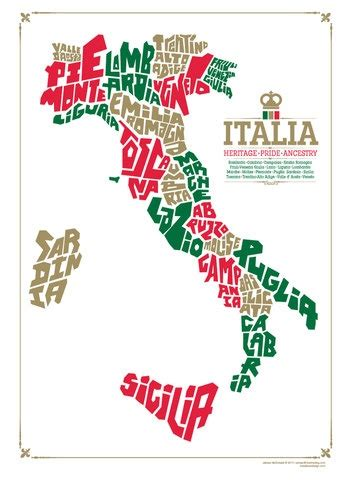 Italy Map Region