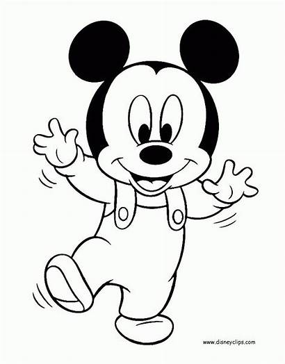 Mickey Coloring Mouse Pages Minnie Disney Babies