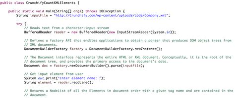 simple   count number  xml elements  java crunchify