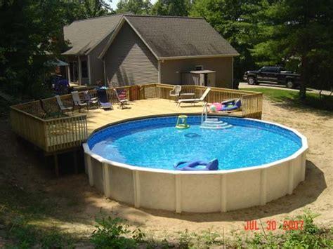 inspiring pool decking ideas 7 round pool deck ideas