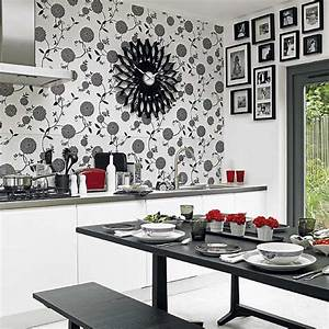 unique kitchen wall art ideas decozilla With kitchen colors with white cabinets with papier peint intissé xxl