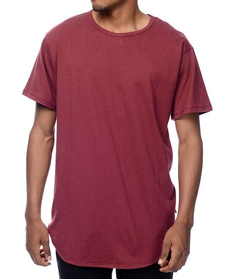 burgundy t shirt s eptm og burgundy elongated t shirt zumiez