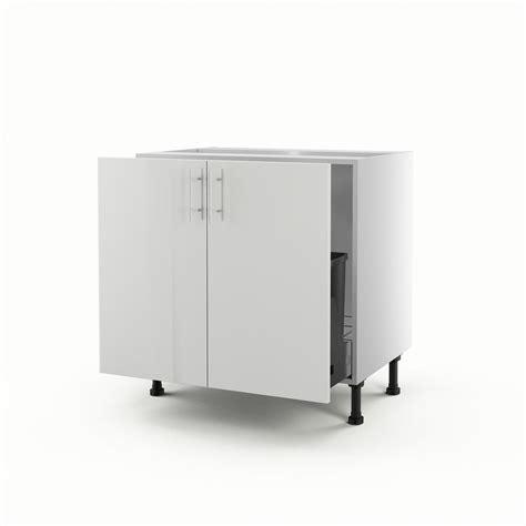 meuble evier cuisine leroy merlin meuble de cuisine sous évier blanc 2 portes h 70 x l 80 x p 56 cm leroy merlin