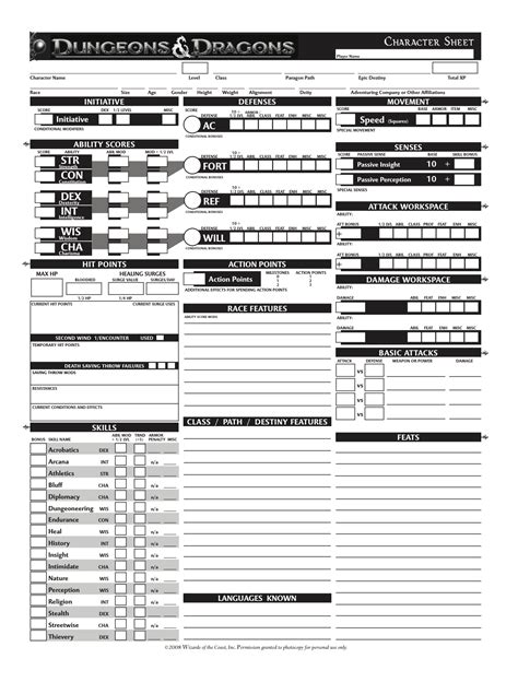 d d character sheet 4e dnd character sheets download fivefile