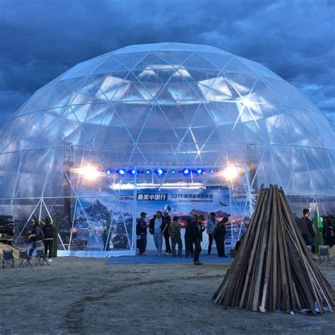 Clear Geodesic Dome Tent With Luxury And Popular Light ...