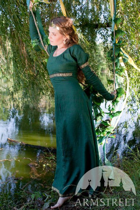 elegant natural flax linen dress