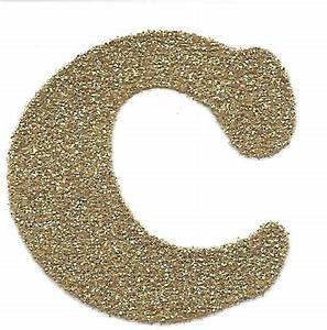 gallery for gt gold glitter alphabet With glitter letter c