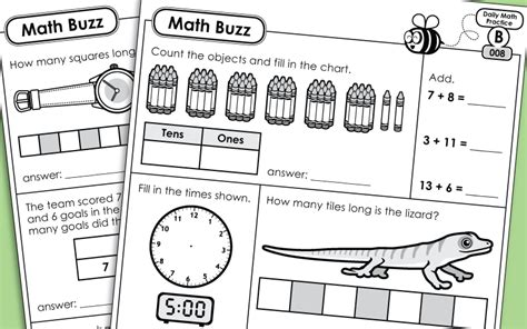 daily math review worksheets math buzz level