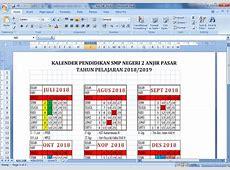 Kalender Pendidikan dan Minggu Efektif Tahun Pelajaran