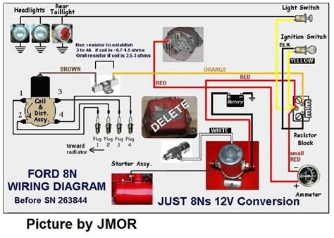 Wiring Diagram For Ford 8n 12 Volt by Diagram 6 Volt To 12 Volt Conversion Wiring Diagram For