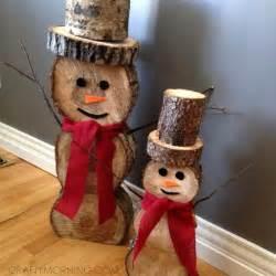 weihnachtsdeko 2015 holz log snowmen decorations for winter crafty morning