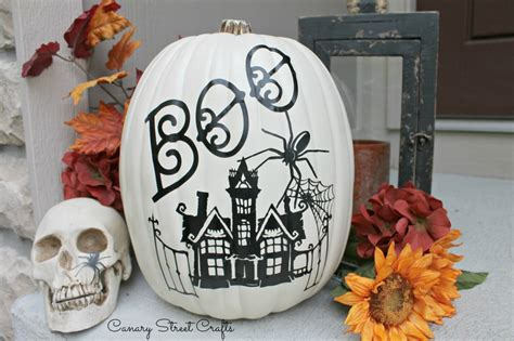diy vinyl decal pumpkin canary street crafts