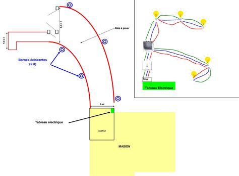 schema electrique eclairage exterieur realiser un eclairage exterieur forum electricit 233 syst 232 me d