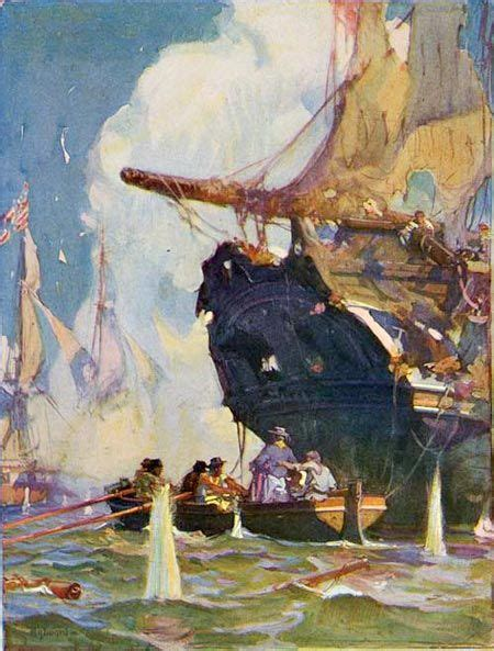 Howard Pyle Pirate Ship Paintings