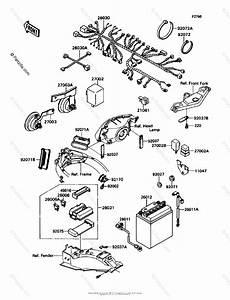 Kawasaki Motorcycle 1991 Oem Parts Diagram For Electrical