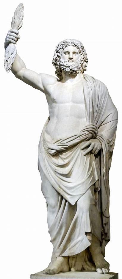 Zeus Transparent Statue Clipart Myth Gray Mythology
