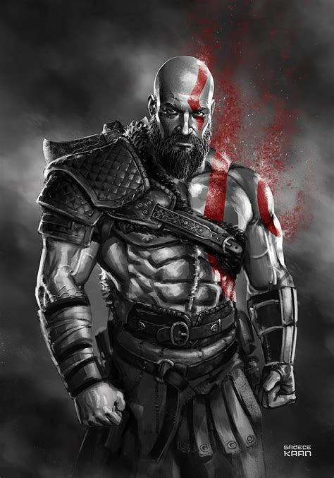Kratos  God Of War 4 By Sadecekaan On Deviantart