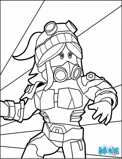 Roblox Coloring Pages Noob Printable Drawing Heroine