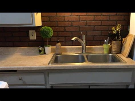 faux brick for kitchen backsplash faux brick backsplash diy backsplash easy kitchen 8920