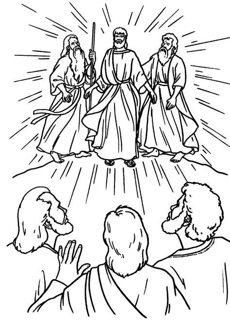 transfiguration catholic coloring page catholic
