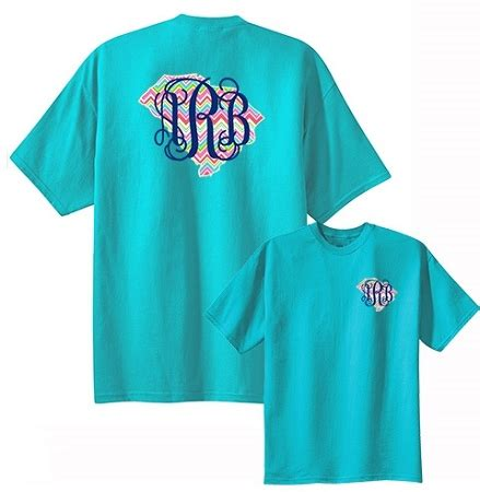 chevron state monogram  shirt
