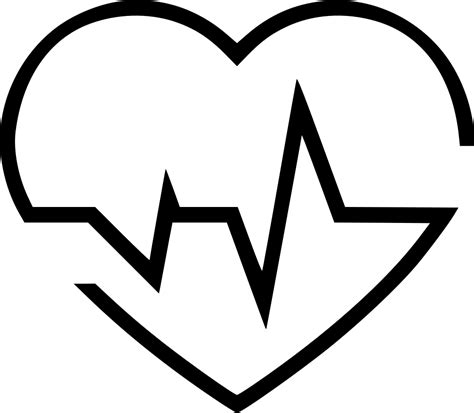 Heartbeat Svg Png Icon Free Download (#491812 ...