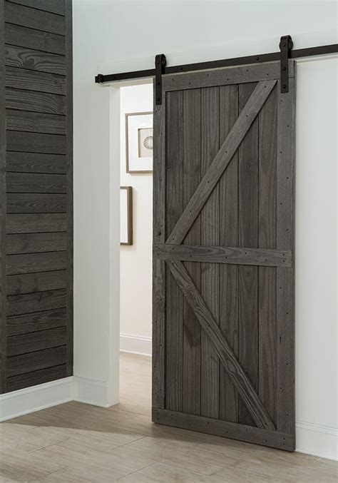 Get A Farmhouse Look With A Barnstyle Sliding Door In