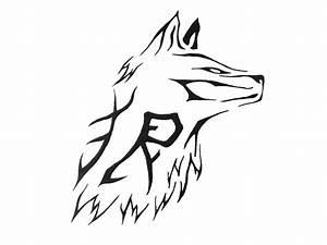 Simple Tribal Wolf Face Tattoo Design | Dövme fikirleri ...