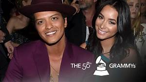 Bruno Mars and Jessica Caban at the Grammy's 2016 - YouTube