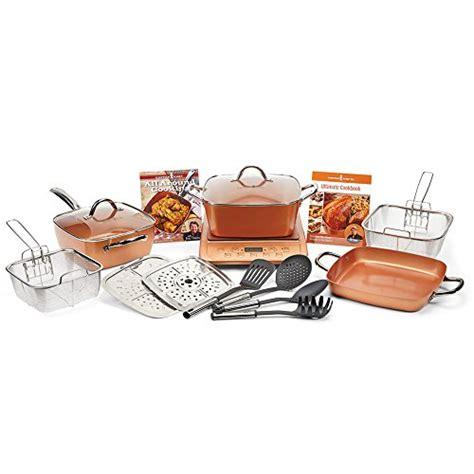 copper chef xl  pc casserole set  induction cooktop copper cookware set ebay