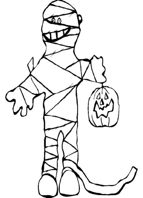 dibujos de disfraces de halloween  colorear colorear imagenes