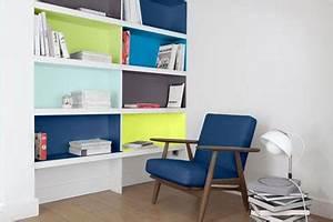 repeindre un meuble avec de la couleur sur le fond des casiers With couleur de peinture bleu 9 repeindre un meuble avec une peinture effet metal deco cool