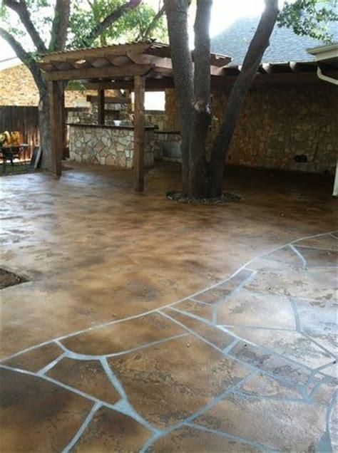 pool deck concrete resurfacing flagstone abilene tx bold