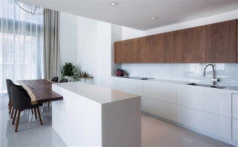 cuisine architecture cuisine minimaliste au design contemporain en blanc