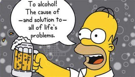 cartoon drinking alcohol journeying 14th sunday ordinary b the homer simpson effect