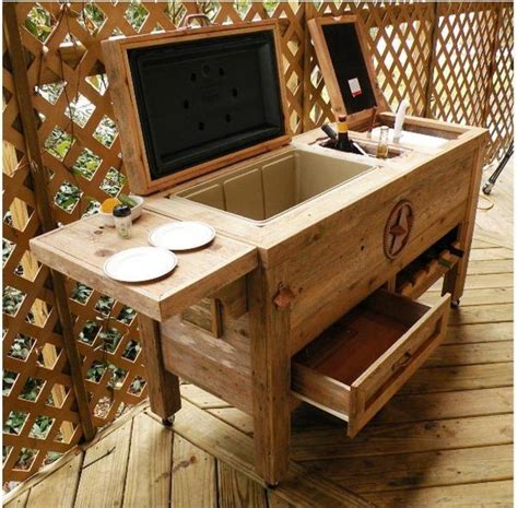 rustic outdoor patio cooler bar the baum list
