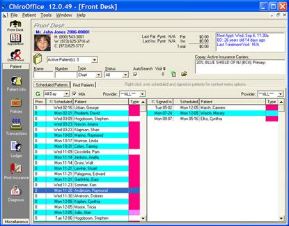 front desk software chirooffice