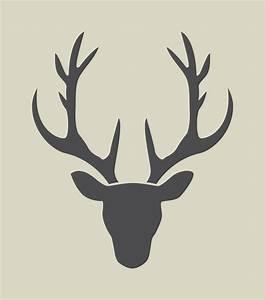 Tete De Cerf Blanche : cerf silhouette de t te de cerf pochoir en vinyle adh sif ref 189 d coration d 39 int rieur ~ Teatrodelosmanantiales.com Idées de Décoration