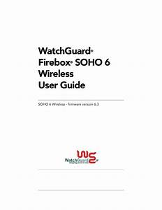 Download Free Pdf For Watchguard Firebox Soho 6 Wireless