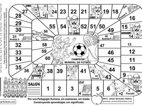 El ganador será el primer jugador que alcance la última casilla. Oca Archivos - Actiludis | Juegos de matemáticas, Juegos con dados y Copa del mundo