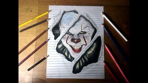 Dibujo REALISTA a Pennywais con Lapices Escolares YouTube