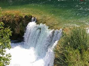 Nationalpark, krka, wasserfälle in Kroatien