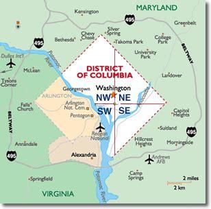 Washington Dc Map Quadrants