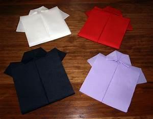 Pliage De Serviette En Papier Facile : l 39 art de plier une serviette en forme de chemise sourour ~ Melissatoandfro.com Idées de Décoration