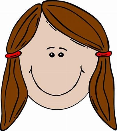 Cartoon Face Clip Clipart Head Clker Brown